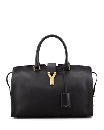 Y Ligne Medium Soft Leather Bag, Black