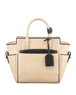 Reed Krakoff Mini Atlantique Tote Bag, Nude Black