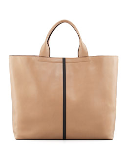 Reed Krakoff Track Leather Tote Bag, Almond