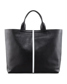 Reed Krakoff Track Leather Tote Bag, Black