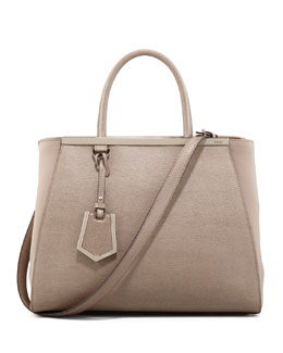 Fendi 2Jours Vitello Elite Medium Tote Bag, Dove
