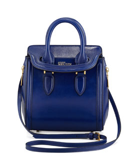 Alexander McQueen Mini Heroine Satchel Bag, Royal