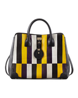 Jason Wu Jourdan Painted Eelskin Tote Bag, Gold/Violet