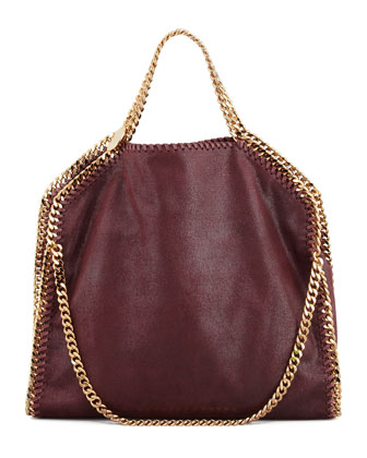 Falabella Fold-Over Shoulder Bag, Plum