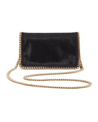 Falabella Chain Crossbody Bag, Black