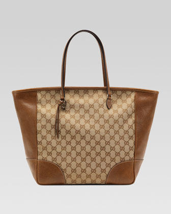 Bree Original GG Canvas Tote, Tan/Beige