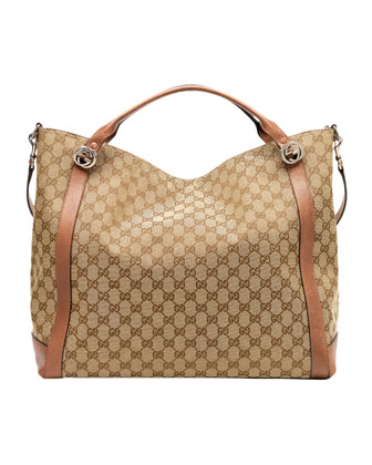 Miss GG Original GG Canvas Top Handle Bag, Tan