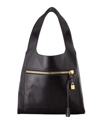 Alexia Zip-Pocket Shoulder Bag