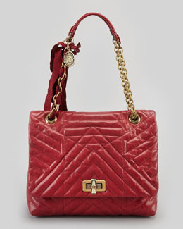 Lanvin Happy Medium Quilted Leather Shoulder Bag, Red