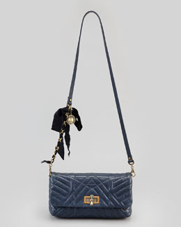 Lanvin Happy Poppy Pouchette Bag, Navy