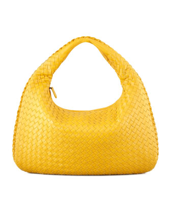 Intrecciato Medium Hobo Bag, Yellow