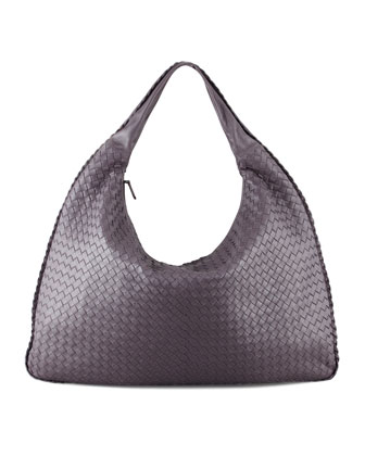 Intrecciato Maxi Hobo Bag, Purple