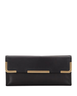 Bottega Veneta Medium Waxy Clutch Bag, Black