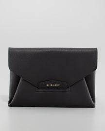 Antigona Evening Envelope Medium Leather Clutch, Black