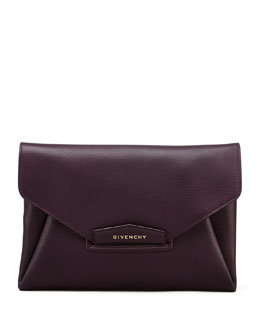 Givenchy Antigona Envelope Clutch Bag, Purple