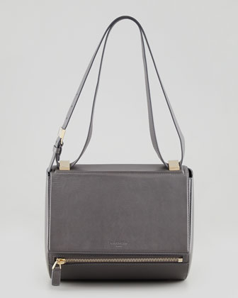New Rigid Pandora Medium Crossbody Bag, Gray