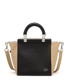 Givenchy HDG Small Tricolor Tote Bag, Black