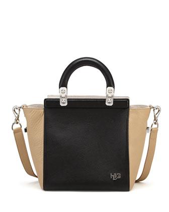 HDG Small Tricolor Tote Bag, Black