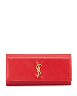 Saint Laurent Cassandre Clutch Bag, Red