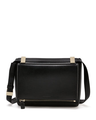 New Rigid Medium Crossbody Bag, Black