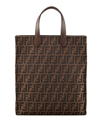 Zucca Shopping Tote Bag, Brown