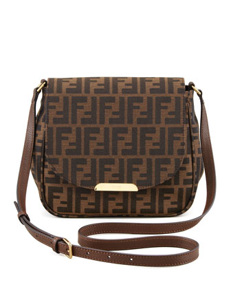 Zucca Small Crossbody Bag, Brown