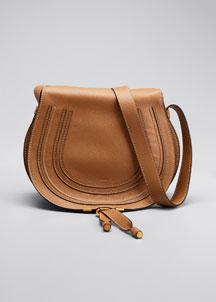 Marcie Horseshoe Crossbody Satchel Bag, Cashmere Gray