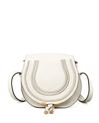 Marcie Small Satchel Bag, Off White