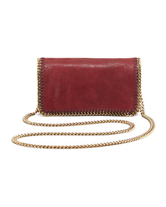Falabella Small Chain Crossbody Bag, Wine