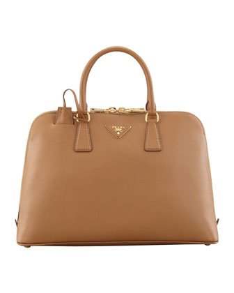 Saffiano Medium Promenade Bag, Brown