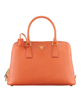 Saffiano Small Promenade Crossbody Bag, Orange