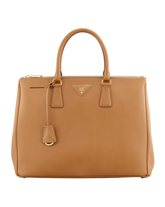Saffiano Executive Tote Bag, Caramel