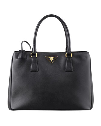 Saffiano Small Gardener's Tote Bag, Black (Nero)