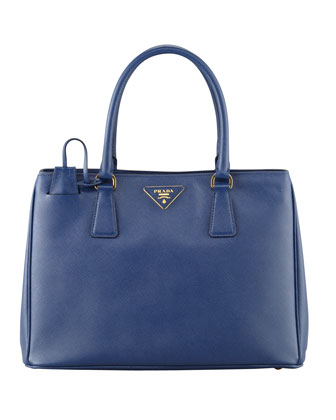 Saffiano Small Gardener's Tote Bag, Blue (Bluette)