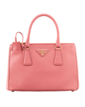 Mini Saffiano Lux Tote Bag, Pink