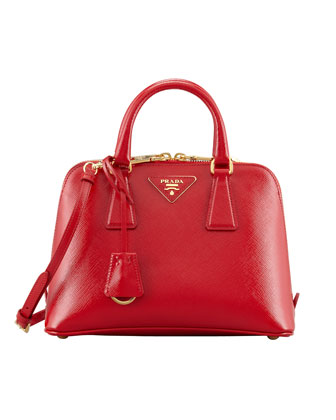 Saffiano Vernice Promenade Crossbody Bag, Red