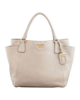 Daino Side-Pocket Tote Bag, Light Gray