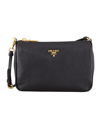 Daino Small Shoulder Bag, Black