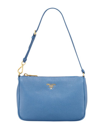 Daino Small Shoulder Bag, Cobalt (Cobalto)