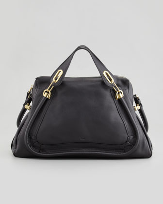 Paraty Large Shoulder Bag, Black