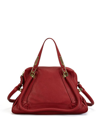 Paraty Medium Shoulder Bag, Red