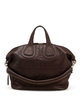 Givenchy Nightingale Zanzi Medium Satchel Bag, Chocolate