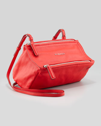 Pandora Sugar Leather Crossbody Bag, Red
