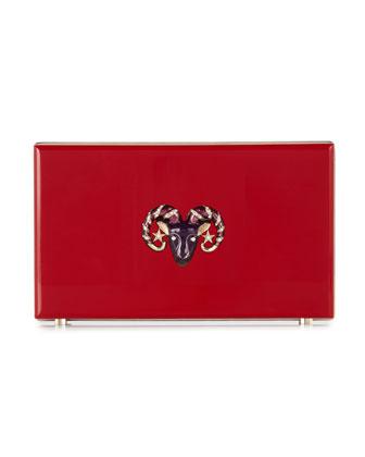 Pandora Aries Zodiac Clutch, Red