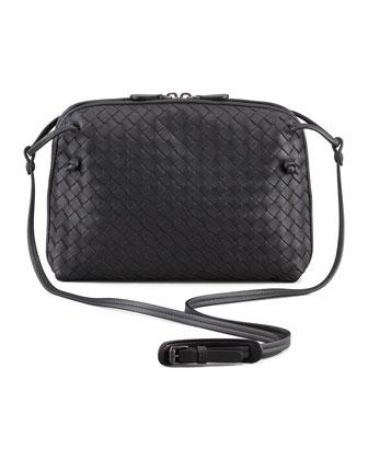 Veneta Small Crossbody Bag, Gray