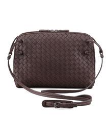 Veneta Messenger Bag, Dark Brown