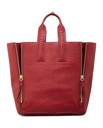 Pashli Large Zip Tote Bag, Red