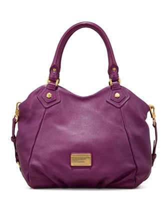 Classic Q Fran Satchel Bag, Purple