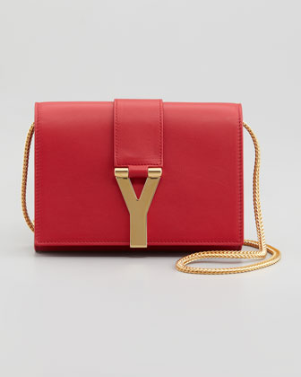 Mini Pochette Y Chain Bag, Red