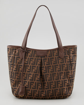 Zucca Grande Shopping Tote Bag, Brown